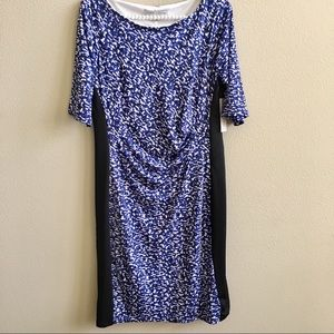 NWT Larry Levine Size M Cobalt Fully Lined Dress
